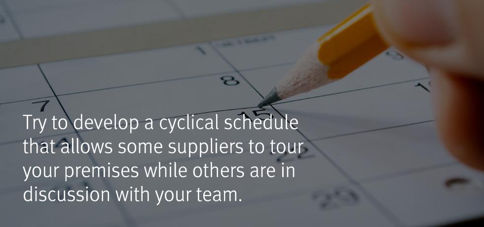 Scheduling Supplier Days