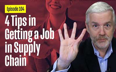 4 Tips in Getting a Job In Supply Chain